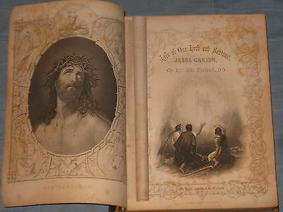 1800's Large Book The Life Of Our Lord And Saviour Jesus Christ By J. Fleetwood