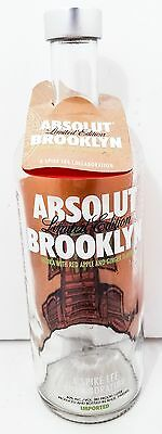 Absolute Brooklyn Empty Vodka Bottle Spike Lee Includes Lid And Tag 1L