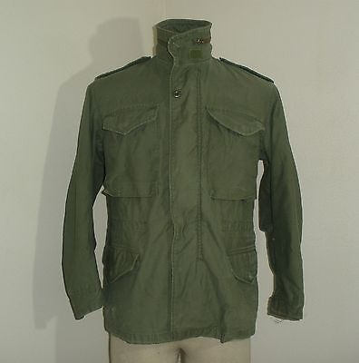 Vintage 60's 70's Military M-65 Style cold weather Field Jacket coat SMALL