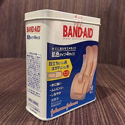 Band Aid Adhesive Bandages Collectable Tin w 50 Plasters