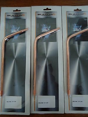 Oxy Acetylene Gas Welding Brazing Tip Tips Set Of 3 Size 25 Brand New Free Post