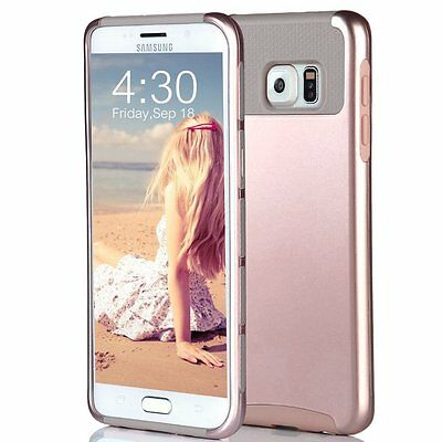 Shockproof Hybrid Rugged Protective Hard Cover Case for Samsung Galaxy S6 Edge