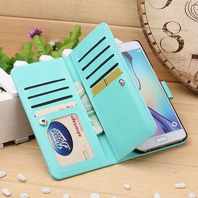 Magnetic Leather Wallet 9 Card Cash Case Cover for Samsung Galaxy S6 edge Plus