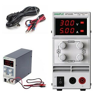 Digital LED Switching Adjustable 0~30V 0~5A Switch DC Power Supply Variable kits