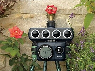 FOUR Valve Outlet Outlet Garden Water Timer By Cost Wise