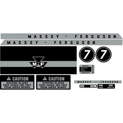 New Mf 7 Massey Ferguson Lawn Tractor Complete Decal Set High Quality Decals