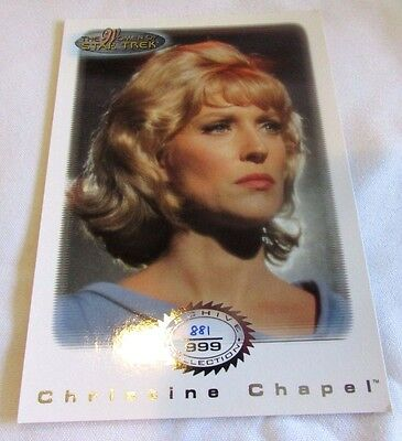 Star Trek Women Of Star Trek In Motion Archive Collection AC 7 Christine Chapel