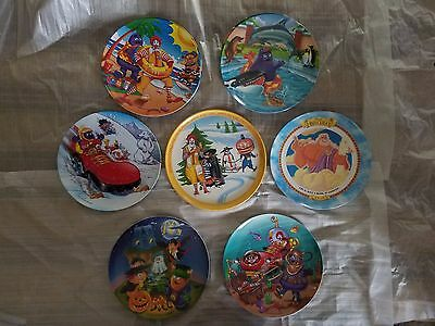 Lot of 9 Ronald McDonald Vintage Plates