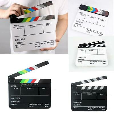 Acrylic TV Film Movie Action Clapboard Clapper Board Clapperboard Slate Stick