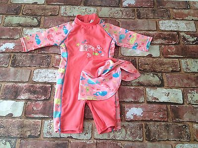 12-18 months - Little Girls sun protection Swimming Outfit - Coral