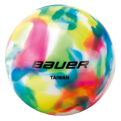 BAUER Multi-colored Hockey Ball - no bounce, 1046675 - Streethockey Inlinehockey