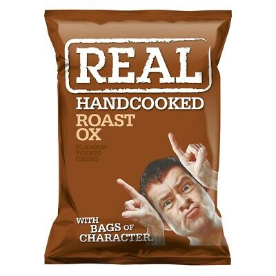 Real Crisps Roast Ox - Available in Case Sizes - 9x35g, 18x50g & 24x35g