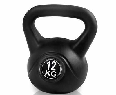 New Kettlebells Fitness Exercise Kit 12Kg Workout Bodybuilding Weightliftings