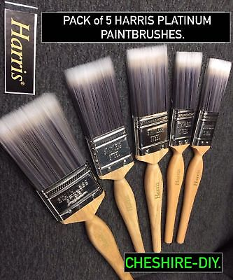 10 X Harris Platinum  Paintbrushes  Pack Of Ten   Use With All Paint Types