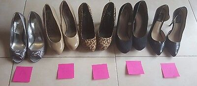 LOT - Women's 5 Pairs of Shoes size 7-1/2 and 8 Mixed Brands