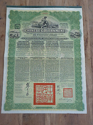 China, The Chinese Government, 5% Reorganisation Gold Loan of 1913, 189.40 RBLS