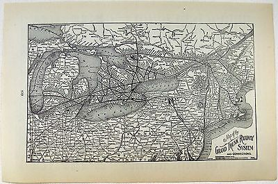 Original 1906 Map of The Grand Trunk Railway System