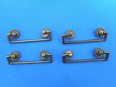 Set of 4 Solid Brass Drawer Pull Vintage Antique High Quality C to C 2 1/2""