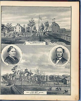 TATES COUNTY NEW YORK maps old GENEALOGY 1876 atlas LAND OWNER DVD plats P35