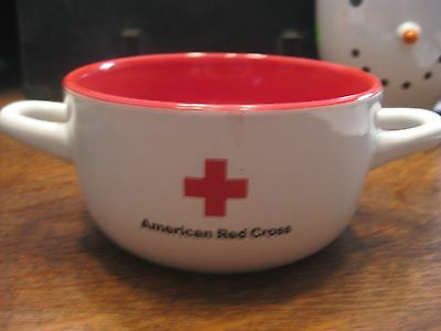 American Red Cross Double Handle Soup Bowl Kitchen