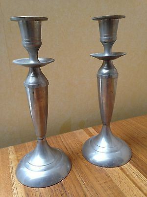 Pair Silver plated Single Candle sticks Candlesticks Candle Holders