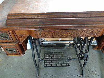 ANTIQUE WHEELER  and WILSON W9 Sewing Machine with Original Cabinet
