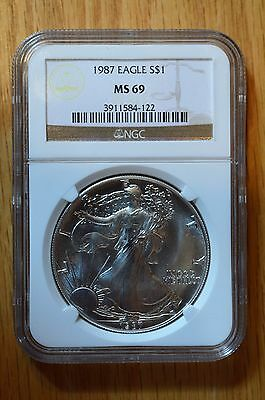 1986 NGC MS69 - Silver Eagle -1 Oz Silver