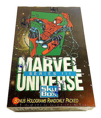 1992 Impel Marvel Universe Series 3 Trading Card Box