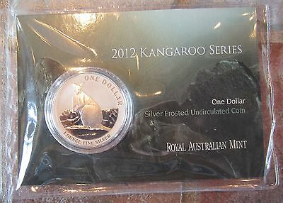 2012 Australia Kangaroo 1 oz .999 Silver coin in card