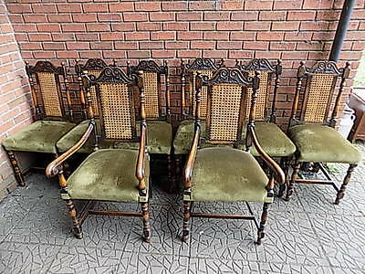 Reduced!!! Set Of 8 King Charles 2nd Style Dinning Chairs