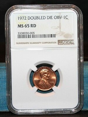 1972 Lincoln Cent Double Die Obverse NGC MS 65 RD