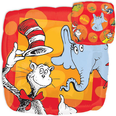 Cat In The Hat Balloon 17 Mylar Dr Seuss Birthday Party Decorations Supplies