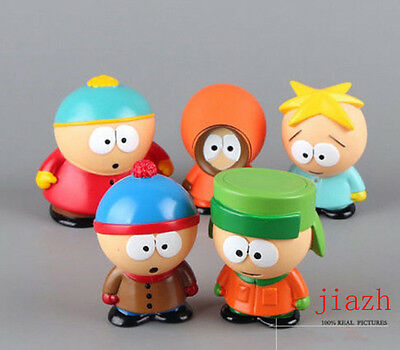 Lot 5pcs South Park Kyle Cartman Kenny Butters Stan Mini Figures Kids Toy No Box