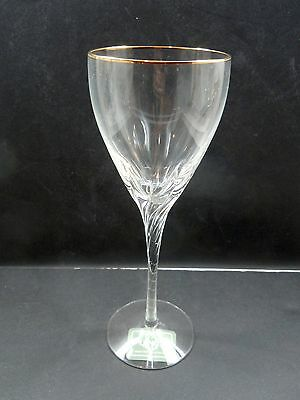 """Lenox Crystal Encore Gold Wine Glass 7 7/8"""" Tall Never Been Used With Labels"""