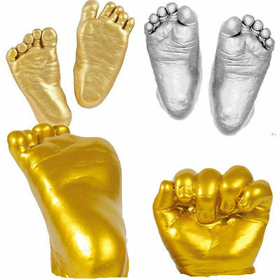 3D Baby Hand & Foot Print Plaster Casting Kit Handprint Footprint Keepsake Gift