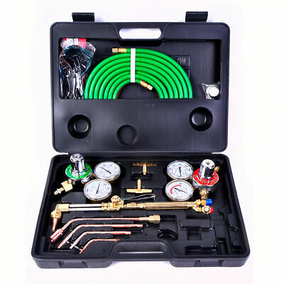 Gas Welding Cutting Kit Oxy Acetylene Oxygen Torch Brazing Fits VICTOR W/Hose