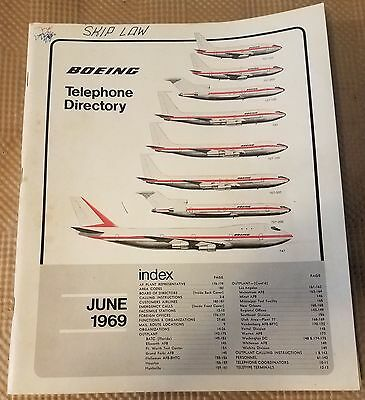 Vintage 1969 Boeing Aircraft Co. Telephone Directory Book