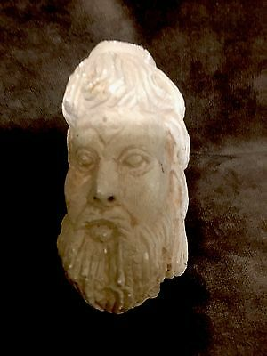Ancient Greek Stone Carving Head 7Th Century  B.C.E.