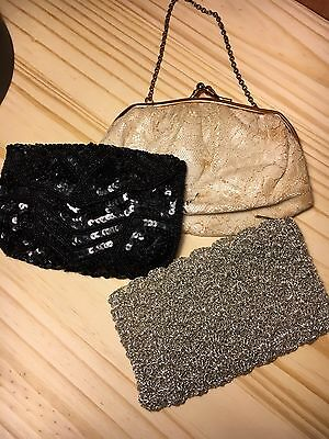 Lot Of 3 Small Vintage Purses