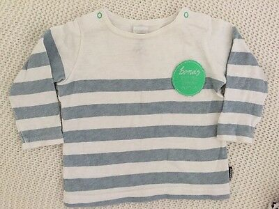 Bonds Baby Boy 3 - 6 Months 00 Long Sleeved Shirt Rugby Style Excellent