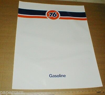 "1996 Unocal Union 76 gas station Gasoline XL Large Pump Wrap sticker 33""x26"""