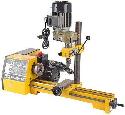"""EMCO Compact 5 2-1/2"""" x 13-3/4"""" 2-Speed Benchtop Lathe/Mill Turning Machine Tool"""