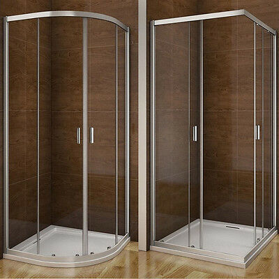 Aica Quadrant / Corner Entry Shower Enclosure and Tray Glass Door Screen Cubicle