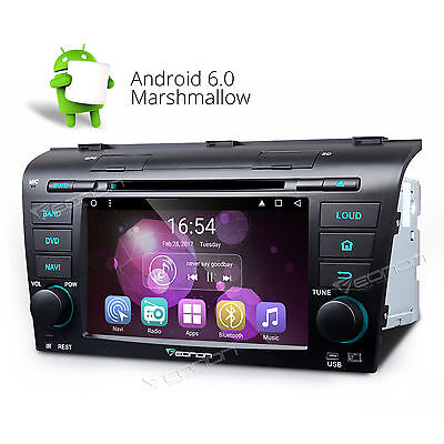 Android 6.0 Car DVD Player Stereo GPS CD Radio Navi WIFI 3G for Mazda 3 04-09 A