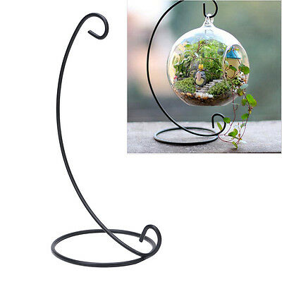 Hanging Glass Flowers Plant Vase Stand Holder Terrarium Container