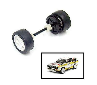 Scalextric W10533 Audi Quattro Rally Rear Wheels Gear Tyres & Axle Bearings New
