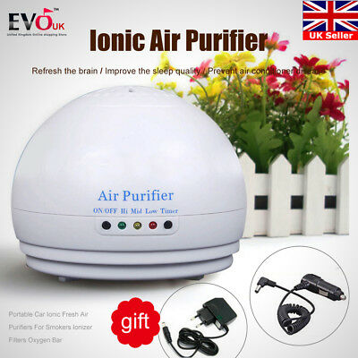 Portable Cleaner Ozone Generator  Negative Ion Ionic Fresh Air Purifier car/hom