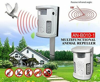 Powerful Indoor/outdoor Electronic Dog Cat Bird Rodent Pest Animal Repeller -