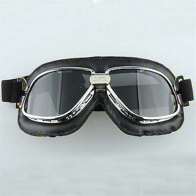 Retro Aviator Pilot Flying Goggles Glasses for Harley Racer Cruiser Motorcycle