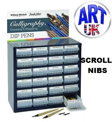 William Mitchell Calligraphy SCROLL PEN NIBS writing draw italic sketch dip ink